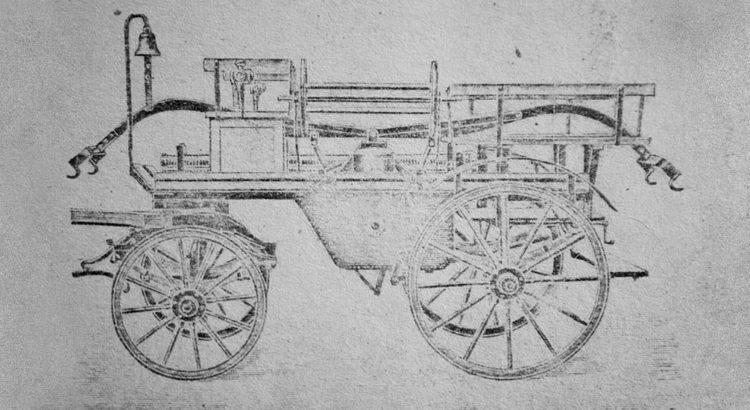 Historia pożarnictwa w Gostyni - Sikawka konna przekazana w 1926 r.